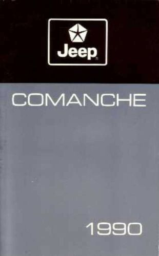 1990 Jeep Comanche Owners Manual User Guide Reference Operator Book Fuses Fluids
