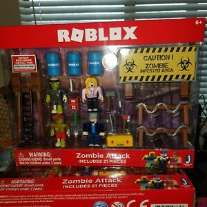 Roblox Zombie Attack 21 Piece Playset Toy W Exclusive Item Code - roblox zombie attack codes