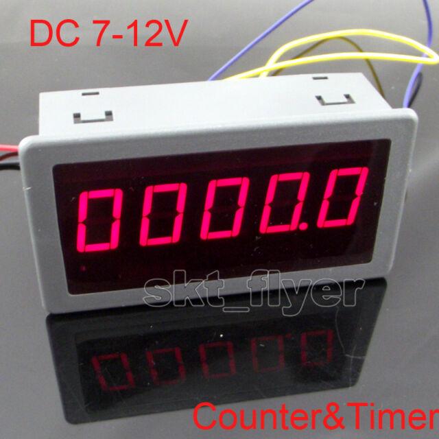 """DC 7-12V 0.56"""" Red LED Digital Counter & Timer & Meter count Multi-function"""
