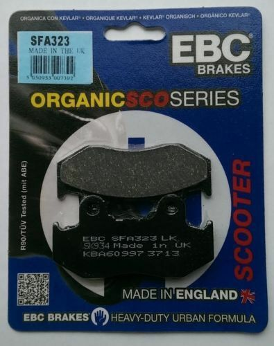 Honda PES125 (PS125) (2006 to 2009) EBC Organic FRONT Disc Brake Pads (SFA323)