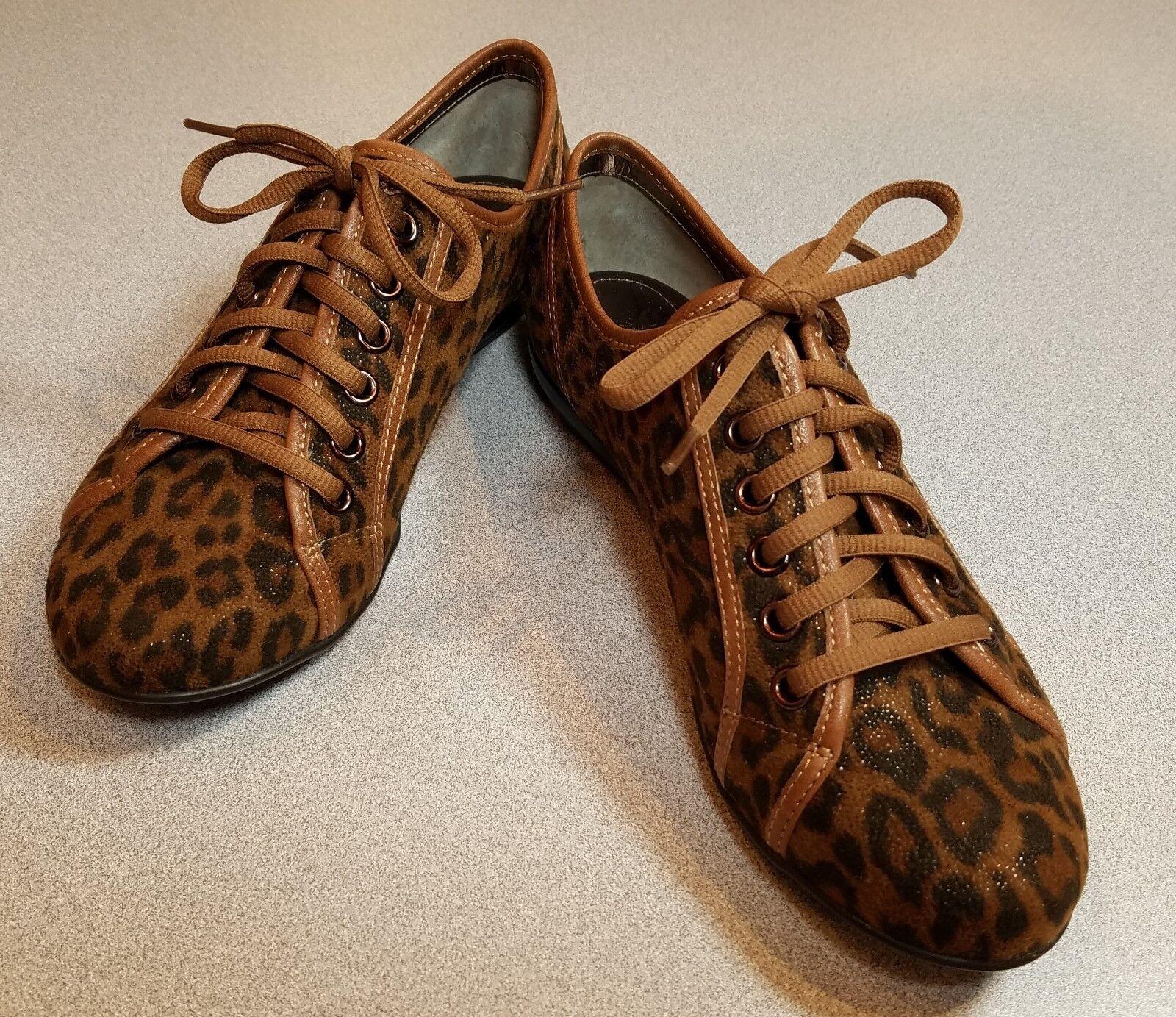 Para Mujeres Mujeres Mujeres con cordones zapatos Sofft Portland Leopardo Marrón Oscuro US 7  comprar marca