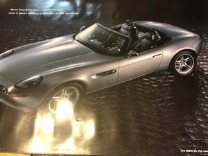 007 JAMES BOND THE WORLD IS NOT ENOUGH  BMW Z-8 CAR  LIMITED EDITION POSTER