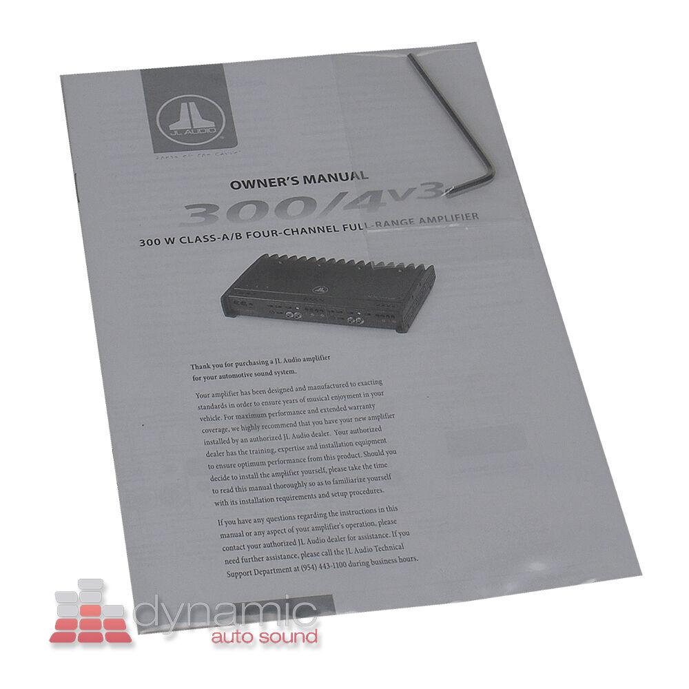 Jl Audio 300 4v3 Car Amp Ebay Amplifiers