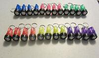 24 Flashlight Keychains Mini Bulb Flash Lights Key Chain Rings Party Favors