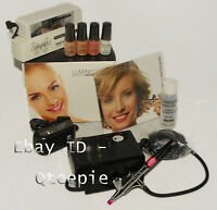 Luminess Air - Professional 3 Speed Pro Black Airbrush Portable System + 4pc