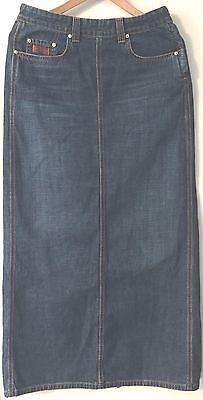 """Women's Lucky Brand Long 37-1/2"""" Denim Modest Modesty Skirt Size 6/28 RN80318"""