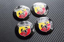 Fiat Abarth Negro 56MM aliado rueda insignias Punto Stilo Seicento Bravo (3C)