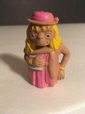 """1982 VINTAGE UNIVERSAL STUDIOS E.T. DRESS UP PVC 2"""" FIGURE , PINK DRESS LJN TOYS"""