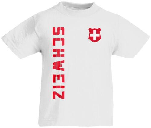 Kinder T-Shirt Trikot Schweiz inkl Name /& Nummer Mini WM 2018