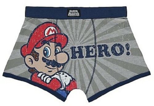 Super Mario Hero! Men/'s Distressed aged effect size Large boxer shorts