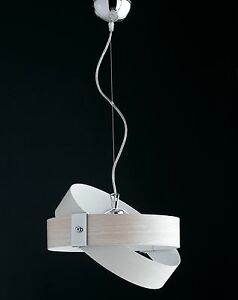 Sospensione-lampadario-moderno-effetto-legno-cromato-cerchi-COLORI-COMBINABILI