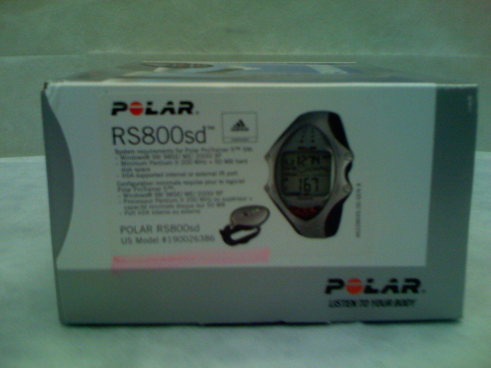 POLAR RS800Sd RUNNING HEART RATE MONITOR BIKE RUN FITNESS FREE HAT 25882 26386