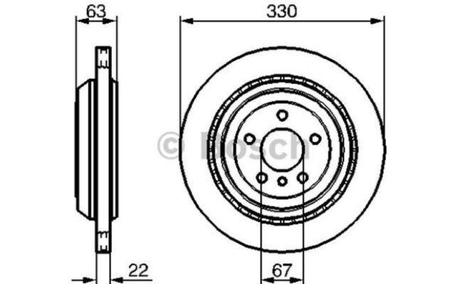 BOSCH Juego de 2 discos freno 330mm ventilado MERCEDES-BENZ 0 986 479 285