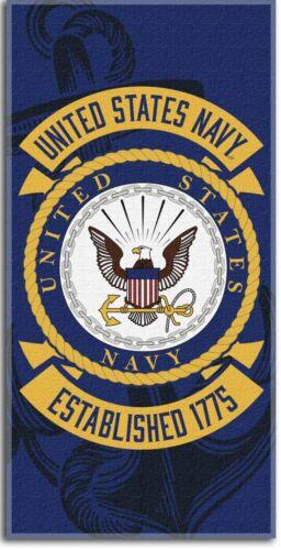 """Navy 30""""x 60"""" Beach Towel USA Navy Towel U.S"""