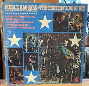 Merle Haggard- The Fightin' Side Of Me Vinyl LP, Capitol Records ST-451