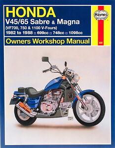 1982 1988 honda magna sabre vf 750 1100 haynes repair manual 820 ebay rh ebay com 1994 Honda Magna Review 1995 Honda Magna Deluxe