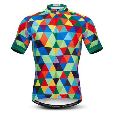 Men/'s Cycling Jersey Clothing Bicycle Sportswear Short Sleeve Bike Shirt Top X88