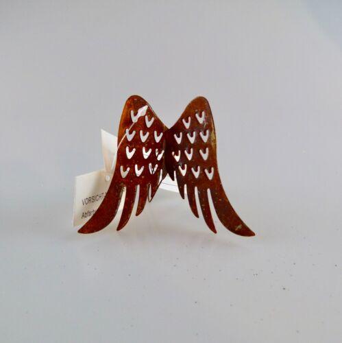 Engelsflügel Edelrost Rostflügel mit Draht 7 und 11 cm  Engel Flügel Advent