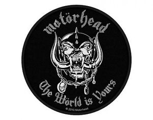 MOTORHEAD-the-world-is-yours-2011-circular-WOVEN-SEW-ON-PATCH-official-LEMMY
