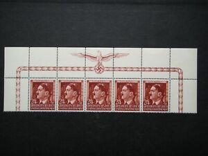 Germany Nazi 1944 Stamps MNH Adolf Hitler 55th birthday Swastika Eagle Generalgo