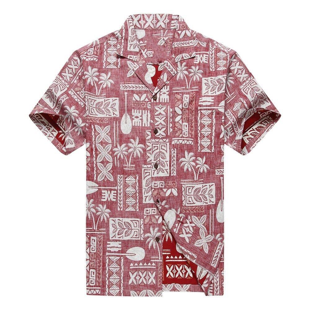 Made in Hawaii Men Hawaiian Shirt Stonewash Vintage Look Classic White