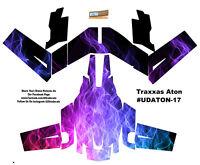 Fire Traxxas Aton Plus Flames Body Wrap Decal Skin Sticker Canopy on sale