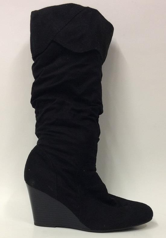 NEW Women's RAMPAGE SHIREEN Black Knee High Wedge Boots shoes SZ 9.5