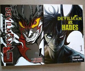 Devilman-G-1-Lot-of-2-Shonen-Manga-English-16-Go-Nagai