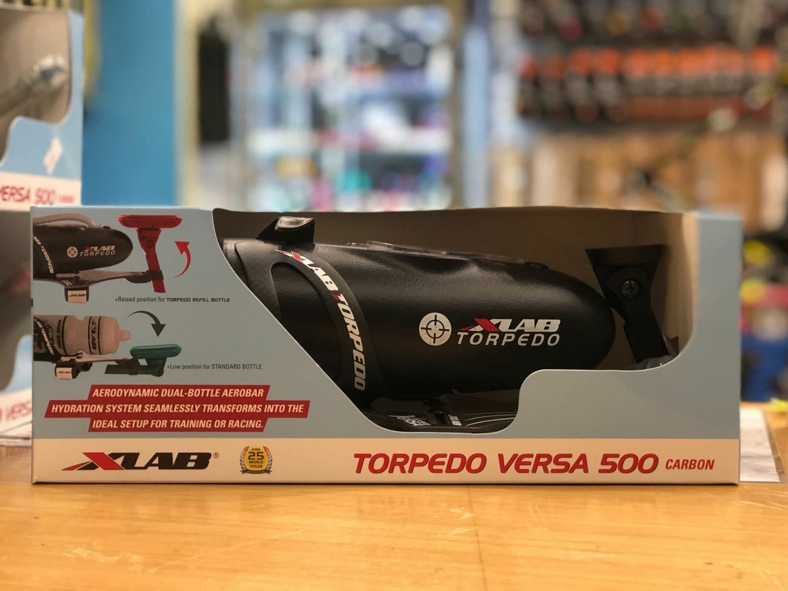 XLab Torpedo Versa 500 Aero Bar Mount + Jaula + Botella Tribal Negro  2532