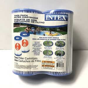 Type A /& C INTEX Twin Pack Swimming Pool Replacement Filter Cartridge #29002E