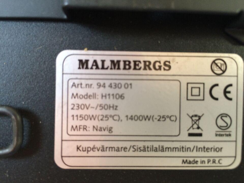 Varmeblæser, Malmbergs