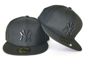 New Era 59Fifty Black New York Yankee Black Metal Badge Logo fitted ... 80e99d39402