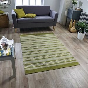 Details about Washable Pacific 129X STRIPED Green Cream Anti-slip Kitchen  Rug Runner Door Mats