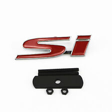Genuine Si BOOT BADGE Red Emblem For Honda Civic 2005+ Coupe Saloon Hatch