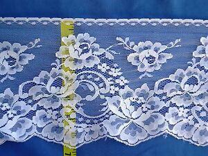 Bridal-Scalloped-Lace-Trim-Edging-Floral-Lace-Trim-6-3-4-034-White-5-yds-W88