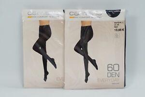 verrückter Preis neue Produkte für offizieller Laden Details zu 4x Camano Strumpfhose Everyday Tights Matt 60 Den Blickdicht  Schwarz Gr 42-44 L