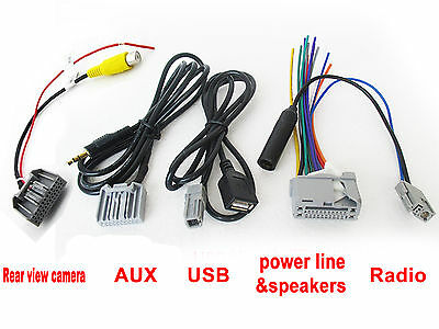 Audio Harness cable for HONDA original Head unit Stereo AUX USB Radio Camera AU