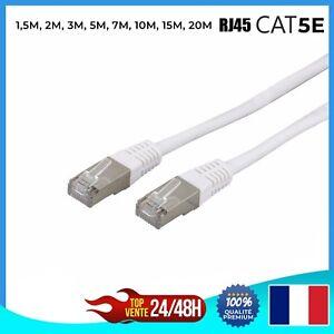 Cable-reseau-ethernet-RJ45-CAT-5E-BLANC-Ordinateur-Console-Jeux-video