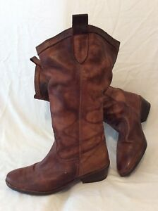 Miss 8 Size Selfridge Knee Boots High Leather Brown aar80qH