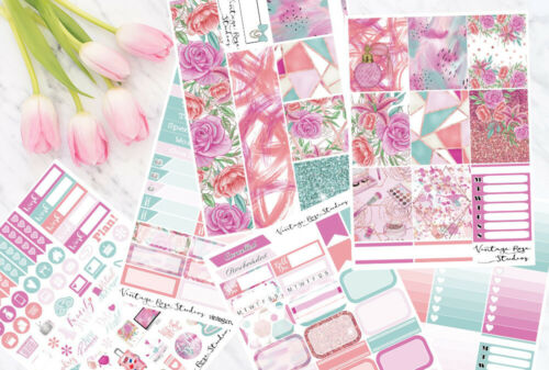 Pretty vertical hebdomadaire Kit Planner Stickers Erin CONDREN Planners Notebook