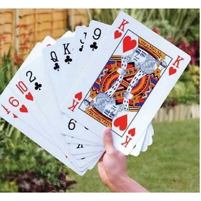 JUMBO PLAYING CARDS GIANT King Size Huge Poker Big Deck Family Game Toy UK