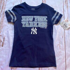 MLB New York Yankees childs short sleeve T-shirt-blue-size XS 4/5-NWT