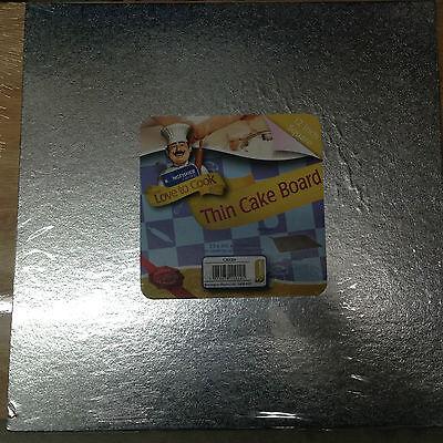 "Earnest Kingfisher 12 ""/ 30cm Dünn Eckig Kuchen Brett Folie Abgedeckter & Gewickelt. Other Baking Accessories"