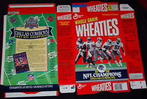 Wheaties-Cereal-factory-flat-box-boxes-Dallas-Cowboys-lot-1990s-Super-Bowl-3diff