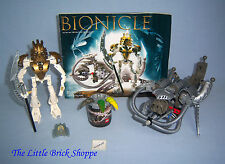 Lego Bionicle Titans 8596 TAKANUVA with instructions & 8580 KRAATA with tub