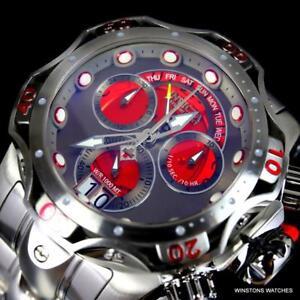 Invicta-Venom-Platino-Elegir-Hecho-en-Suiza-52mm-Acero-Zafiro-Gris-Reloj-Rojo