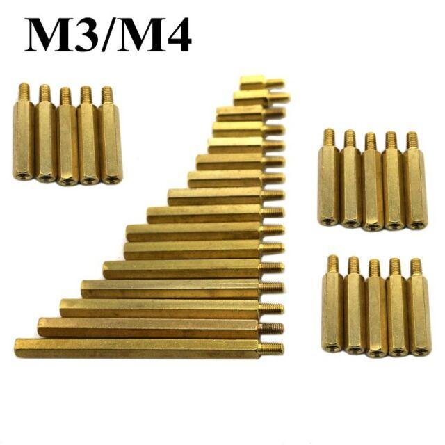 10PCS x M2 M3 M4 Hexagon Thread Copper Cylinder Screws/Nuts/Gasket Free Shipping