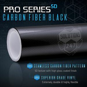"*12/""x60/"" 5D High Gloss Blue Carbon Fiber Vinyl Wrap Bubble Free Air Release"