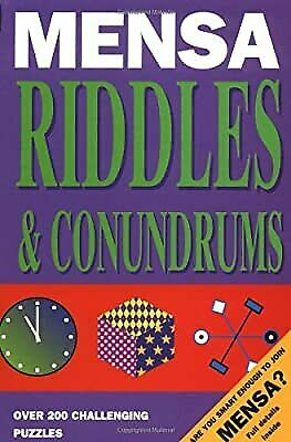 Mensa Riddles and Conundrums (Mensa adult titles), Allen, Robert, Used; Good Boo