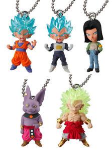 BANDAI Dragon Ball Super DBZ UDM Best 25 Keychain Figure set of 5 SSGSS Goku